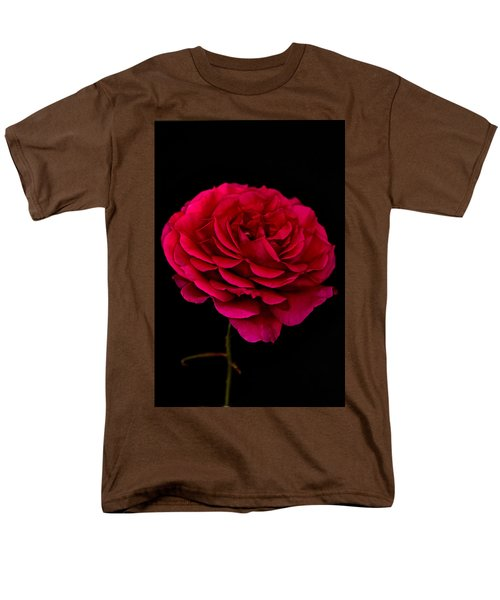 Men's T-Shirt  (Regular Fit) featuring the photograph Pink Rose by Steve Purnell