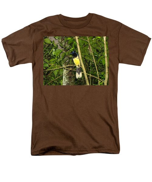 Men's T-Shirt  (Regular Fit) featuring the photograph Plush-crested Jay by David Gleeson