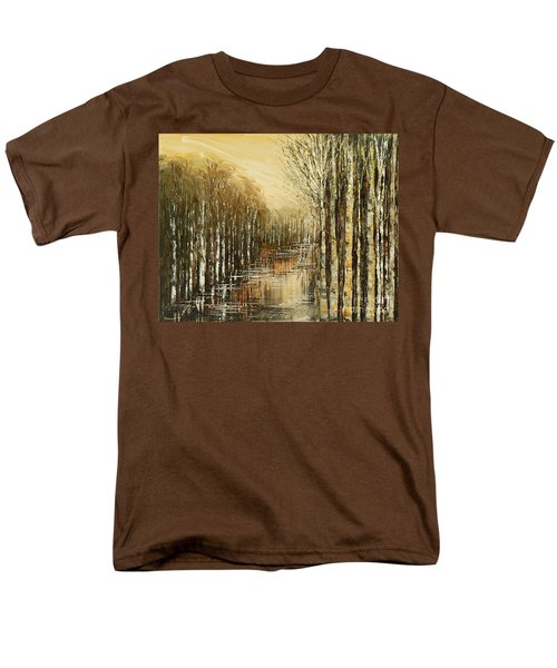 Men's T-Shirt  (Regular Fit) featuring the painting Pond Security by Tatiana Iliina