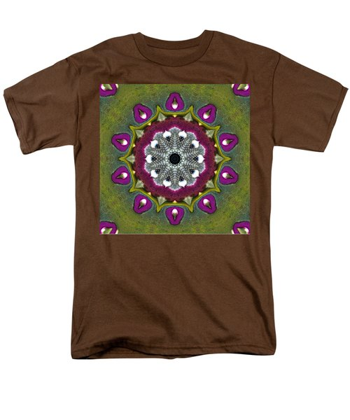Men's T-Shirt  (Regular Fit) featuring the digital art Purple Snakeskin Flower by Alec Drake
