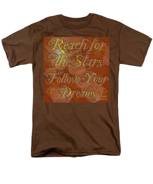 Men's T-Shirt  (Regular Fit) featuring the digital art Reach For The Stars Follow Your Dreams by Clayton Bruster