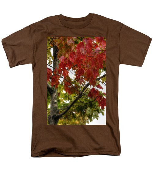 Men's T-Shirt  (Regular Fit) featuring the photograph Red And Green Prior X-mas by Michael Frank Jr
