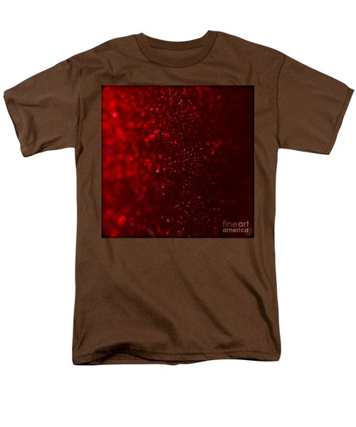 Red Sparkle Men's T-Shirt  (Regular Fit) by Clare Bambers