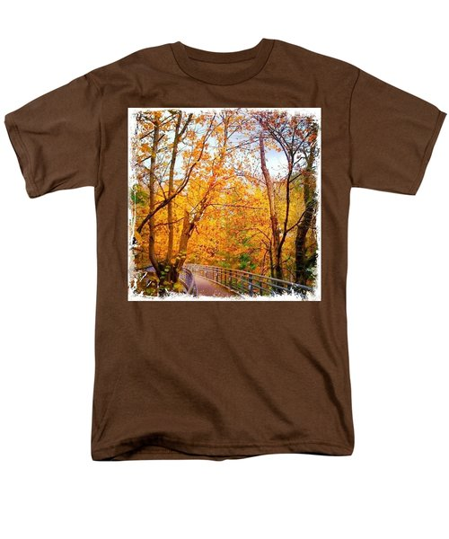 Reed College Canyon Bridge To Campus Men's T-Shirt  (Regular Fit) by Anna Porter