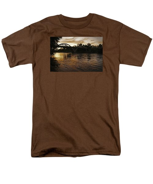 Rogue River Sunset Men's T-Shirt  (Regular Fit) by Mick Anderson