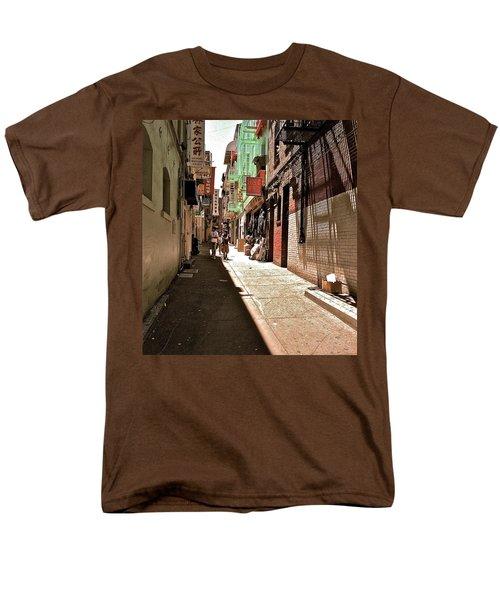 Men's T-Shirt  (Regular Fit) featuring the photograph San Fran Chinatown Alley by Bill Owen