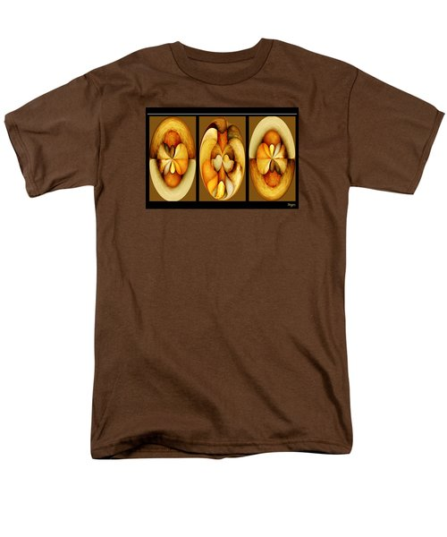 Sanded Woods Triptych Dark Men's T-Shirt  (Regular Fit) by Paula Ayers