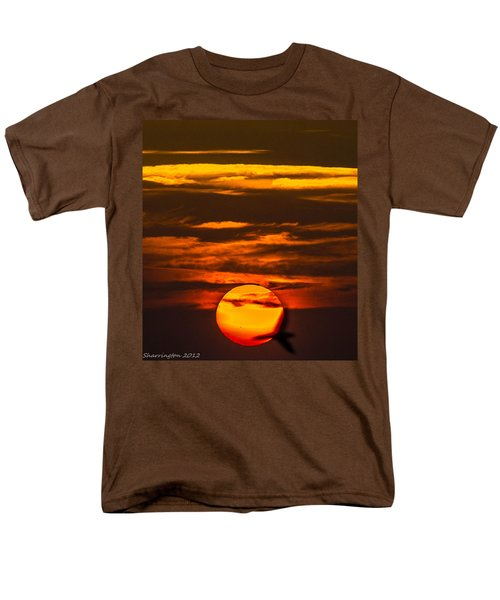 Setting Sun Flyby Men's T-Shirt  (Regular Fit) by Shannon Harrington