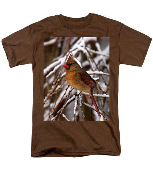 Men's T-Shirt  (Regular Fit) featuring the photograph Snowbirds--cardinal Dsb025 by Gerry Gantt
