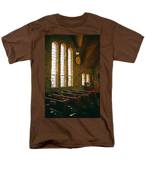 Men's T-Shirt  (Regular Fit) featuring the photograph St Malo Church by David Pantuso