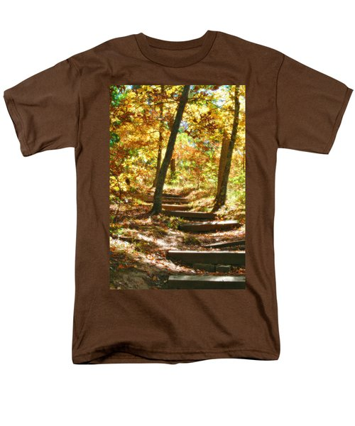 Men's T-Shirt  (Regular Fit) featuring the photograph Stairway To Heaven by Peggy Franz