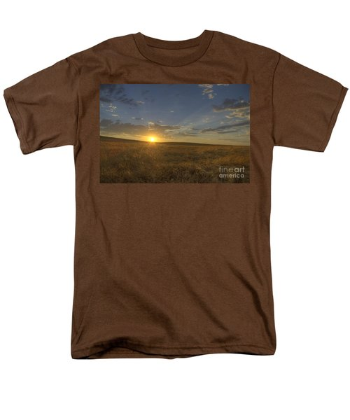 Sunset On The Prairie Men's T-Shirt  (Regular Fit) by Jim And Emily Bush
