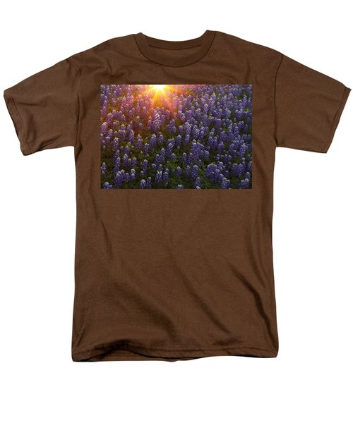 Sunset Over Bluebonnets Men's T-Shirt  (Regular Fit) by Susan Rovira