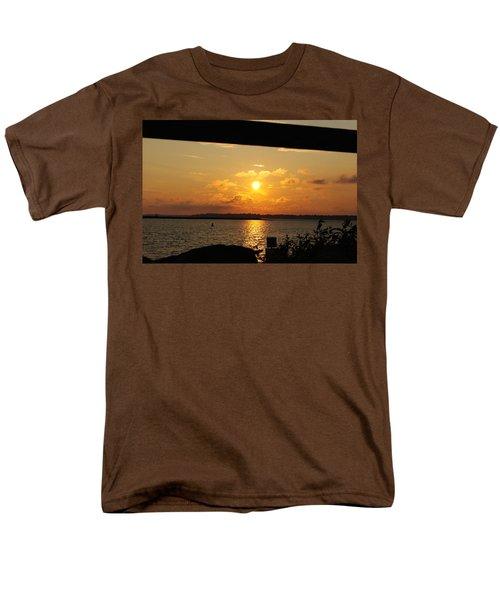 Men's T-Shirt  (Regular Fit) featuring the photograph Sunset Through The Rails by Michael Frank Jr