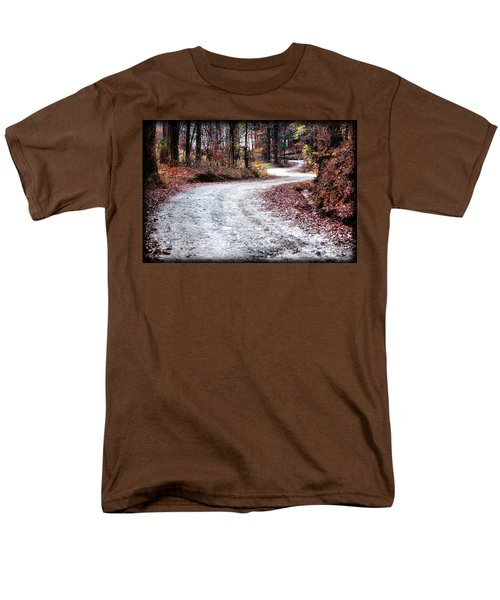 Men's T-Shirt  (Regular Fit) featuring the photograph The Broken Road by Lynne Jenkins