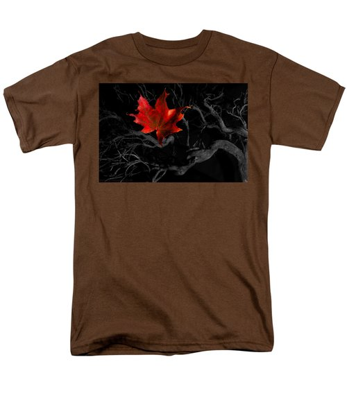 Men's T-Shirt  (Regular Fit) featuring the photograph The Red Leaf by Beverly Cash