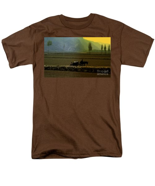 Men's T-Shirt  (Regular Fit) featuring the photograph 'til The Day Is Done by Lydia Holly