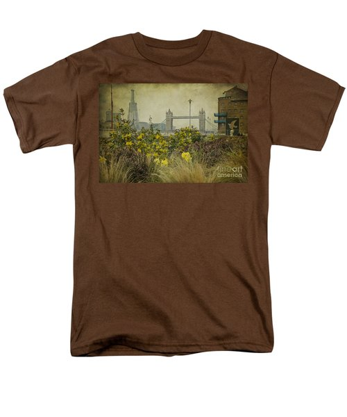 Men's T-Shirt  (Regular Fit) featuring the photograph Tower Bridge In Springtime. by Clare Bambers