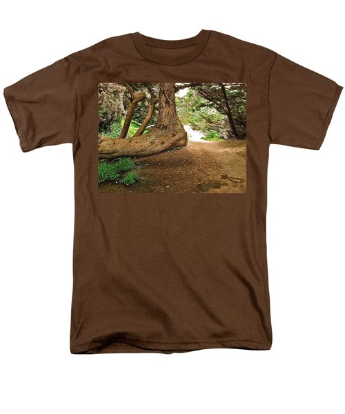Men's T-Shirt  (Regular Fit) featuring the photograph Tree And Trail by Bill Owen