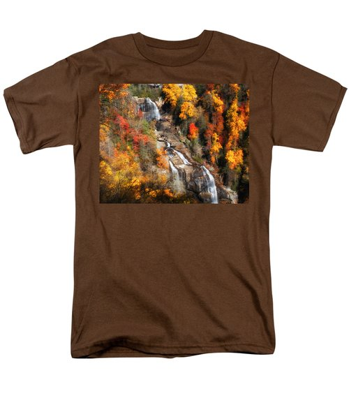 Men's T-Shirt  (Regular Fit) featuring the photograph Upper Whitewater Falls by Lynne Jenkins