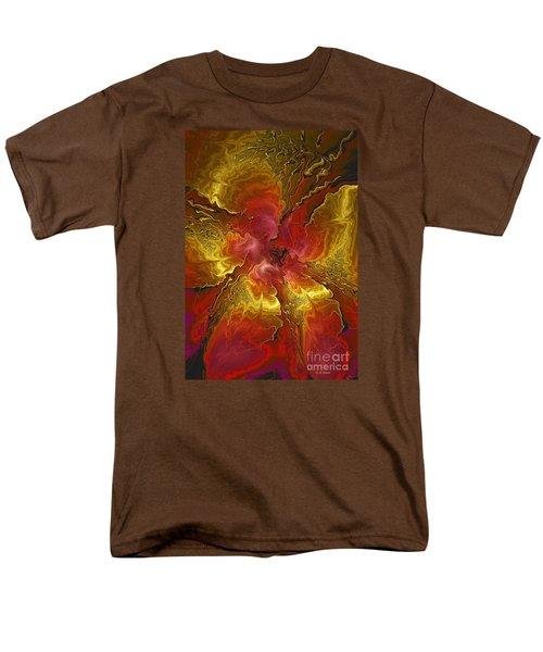 Vibrant Red And Gold Men's T-Shirt  (Regular Fit) by Deborah Benoit