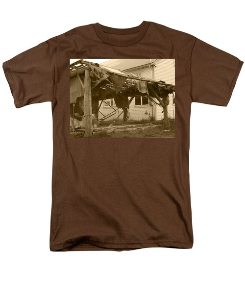 Men's T-Shirt  (Regular Fit) featuring the photograph Weathered And Blown To Pieces by Kym Backland