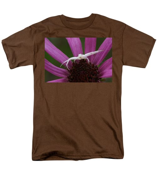 Men's T-Shirt  (Regular Fit) featuring the photograph Whitebanded Crab Spider On Tennessee Coneflower by Daniel Reed