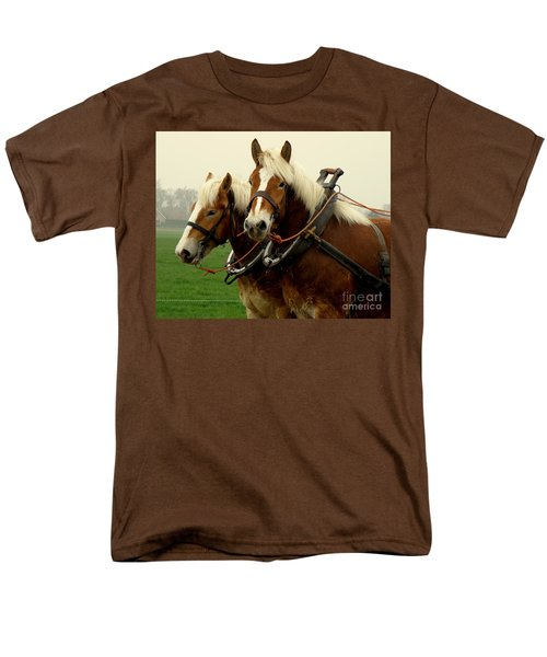 Work Horses Men's T-Shirt  (Regular Fit) by Lainie Wrightson