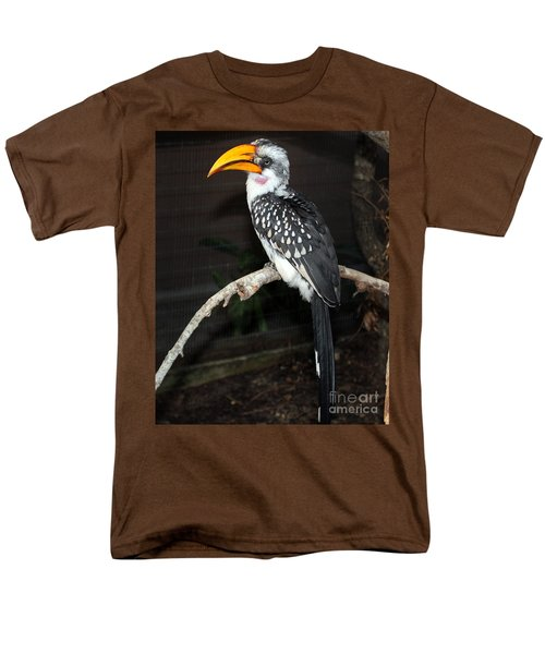 Men's T-Shirt  (Regular Fit) featuring the photograph Yellow-billed Hornbill by Kathy  White