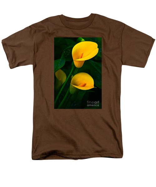Yellow Calla Lilies Men's T-Shirt  (Regular Fit) by Byron Varvarigos
