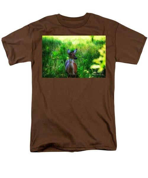 Young Deer Men's T-Shirt  (Regular Fit) by Peggy Franz