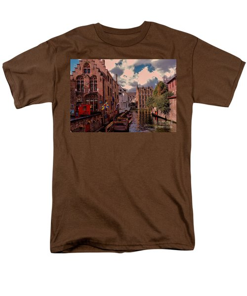Men's T-Shirt  (Regular Fit) featuring the photograph  Brugge Belgium by Mim White