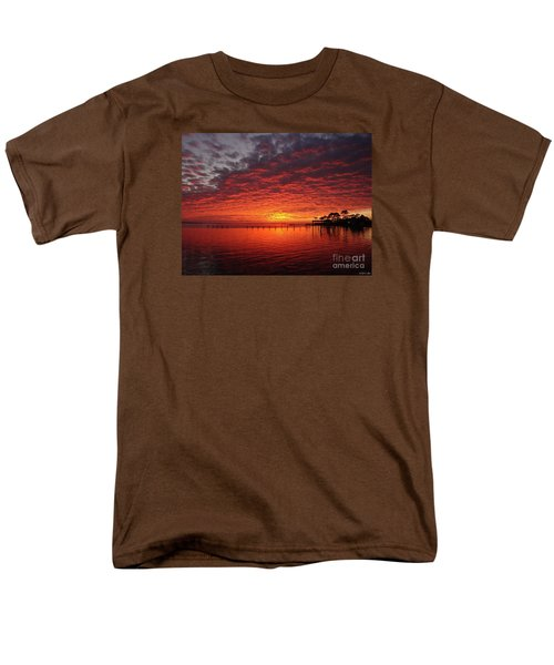 0205 Awesome Sunset Colors On Santa Rosa Sound Men's T-Shirt  (Regular Fit) by Jeff at JSJ Photography