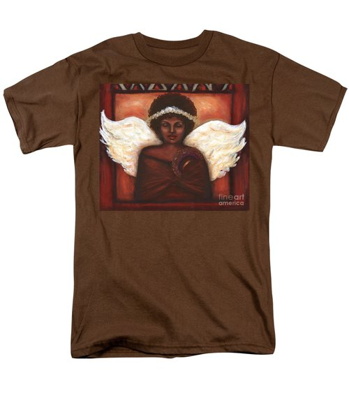 Men's T-Shirt  (Regular Fit) featuring the mixed media Angel by Alga Washington