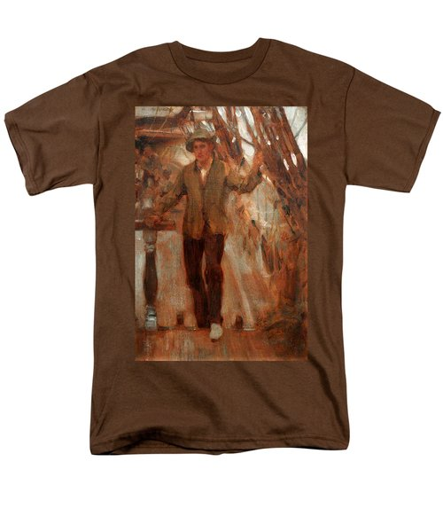 Men's T-Shirt  (Regular Fit) featuring the painting At The Break Of The Poop  by Henry Scott Tuke