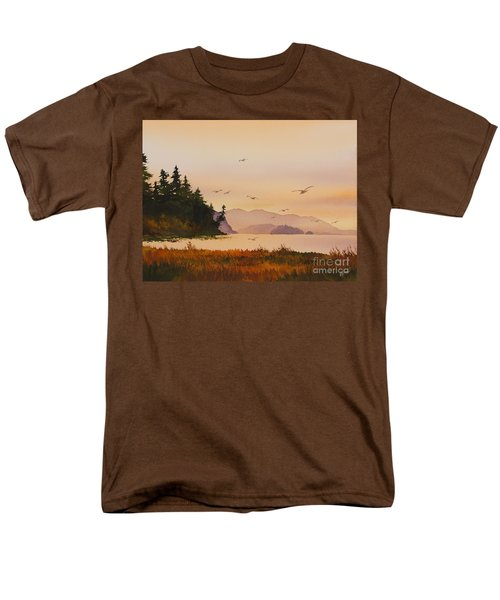 Men's T-Shirt  (Regular Fit) featuring the painting Autumn Shore by James Williamson