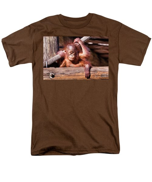 Baby Orangutan Men's T-Shirt  (Regular Fit) by Stephanie Hayes