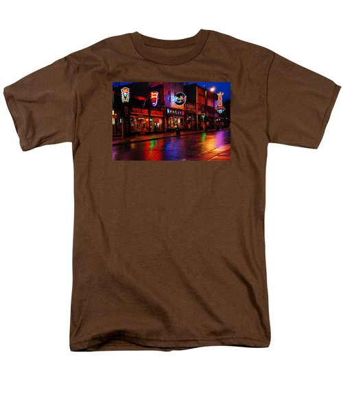 Men's T-Shirt  (Regular Fit) featuring the photograph Beale Street Memphis by James Kirkikis