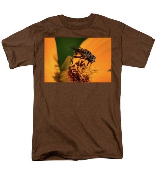 Men's T-Shirt  (Regular Fit) featuring the photograph Bee On Flower by Jay Stockhaus