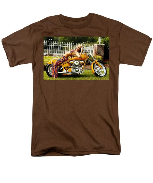 Bikes And Babes Men's T-Shirt  (Regular Fit) by Clayton Bruster