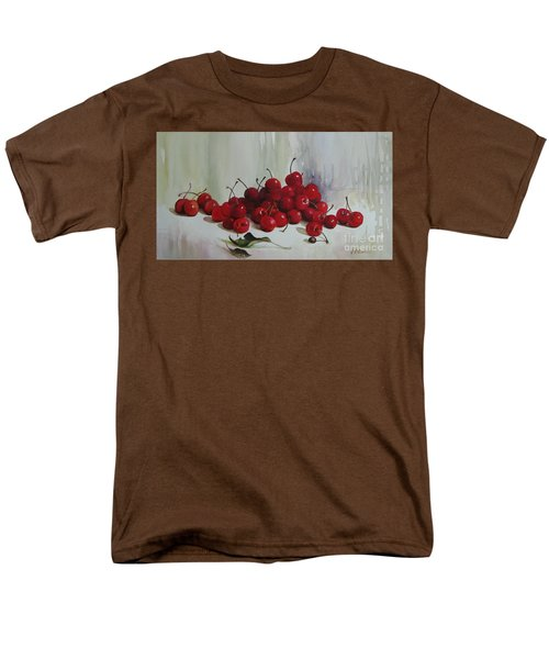 Men's T-Shirt  (Regular Fit) featuring the painting Cherries by Elena Oleniuc
