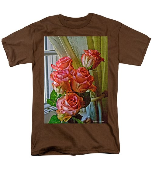 Men's T-Shirt  (Regular Fit) featuring the photograph Cindy's Roses by Bonnie Willis
