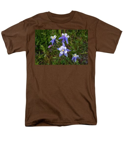 Men's T-Shirt  (Regular Fit) featuring the photograph Colorado Columbine by Steve Stuller