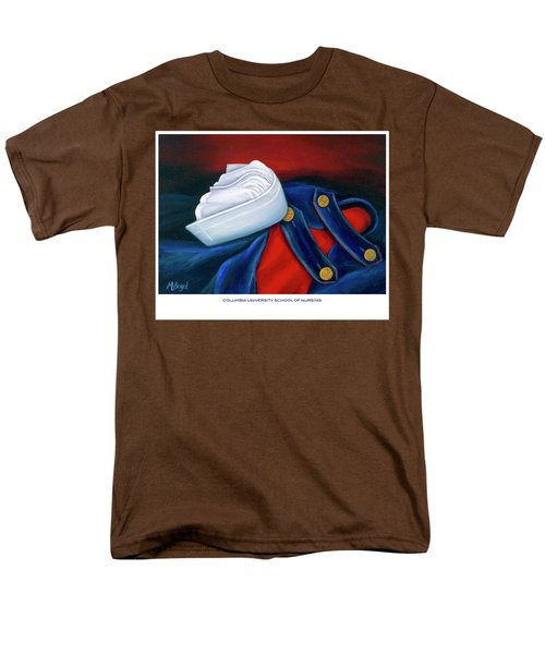 Men's T-Shirt  (Regular Fit) featuring the painting Columbia University School Of Nursing by Marlyn Boyd