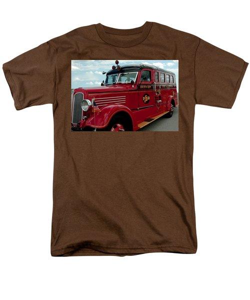 Detroit Fire Truck Men's T-Shirt  (Regular Fit) by LeeAnn McLaneGoetz McLaneGoetzStudioLLCcom