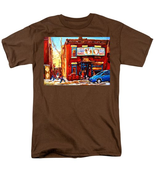 Fairmount Bagel In Winter Men's T-Shirt  (Regular Fit) by Carole Spandau