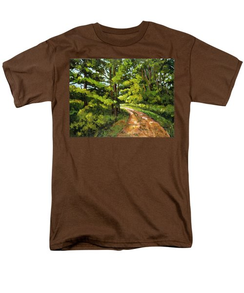 Forest Pathway Men's T-Shirt  (Regular Fit) by Alexandra Maria Ethlyn Cheshire