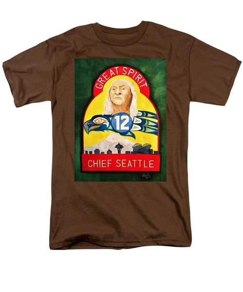 Great Spirit Seattle 12s Men's T-Shirt  (Regular Fit) by Rand Swift