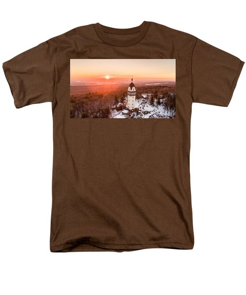 Heublein Tower In Simsbury, Connecticut Men's T-Shirt  (Regular Fit) by Petr Hejl