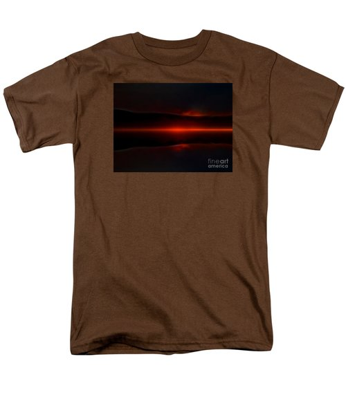 Island Fog Sunrise Men's T-Shirt  (Regular Fit) by Elaine Hunter
